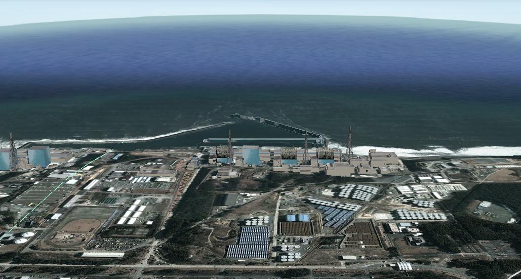Google Satellite Image of Fukushima-Daiichi