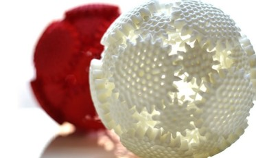 One 3-D printed wonder is the Mechaneu, a ball of interlocking gears and supports. When you twist one side, the whole sphere comes alive with motion. Mechaneu is futuristic in more ways than one; makers created the object with the help of computer algorithms that mimic the growth of cells in the body.