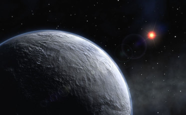 Artist's impression of an icy exoplanet. Credit: ESO
