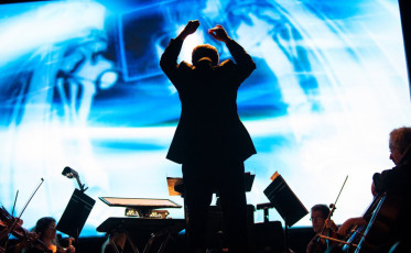 Conductor Brad Lubman, 2012 World Science Festival, United Palace Theater, New York