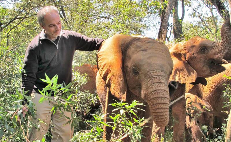 Carl Safina at Carl at Amboseli